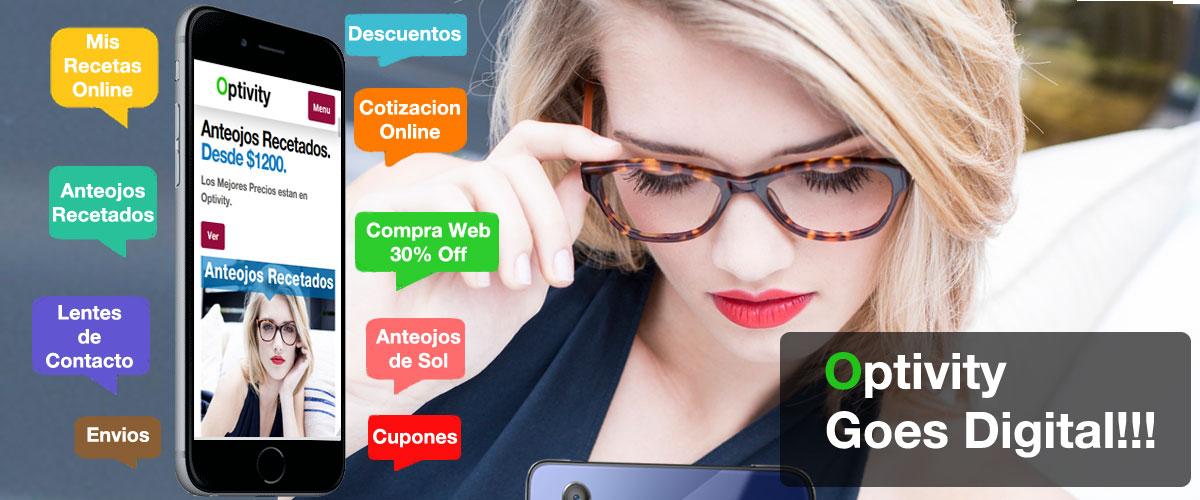 Cotizacion Anteojos graduados online Optivity en belgrano